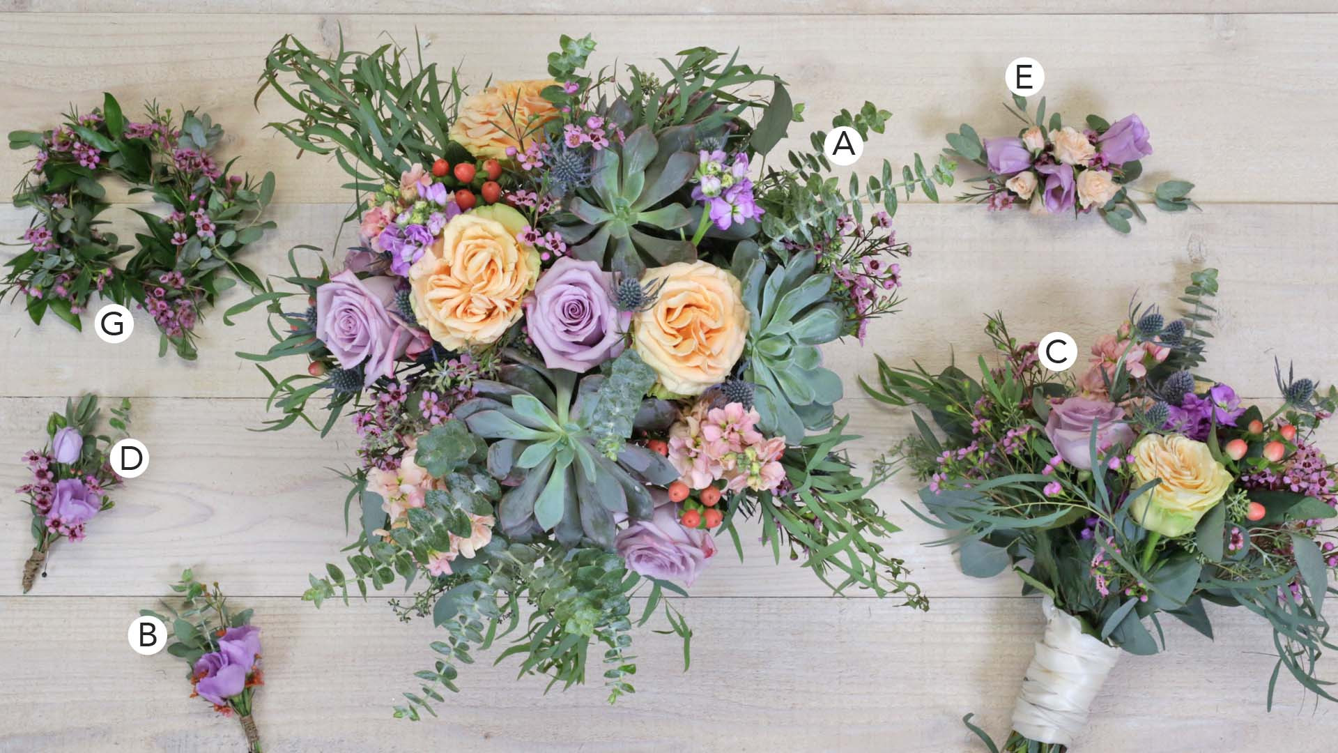 Lavender Love Succulents Botanica Columbus Wedding Florist