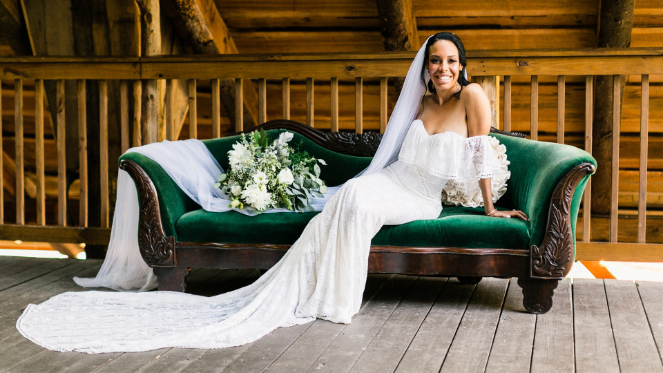 All White Barn Wedding