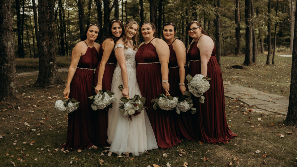 Burgundy Mohican Wedding