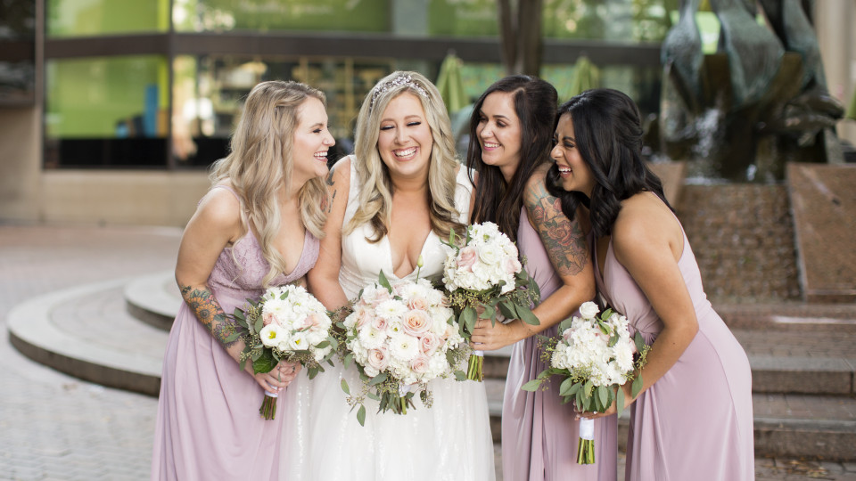Blush & Gray Wedding